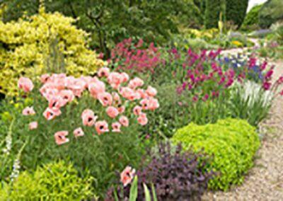 landscaped flower garden bed