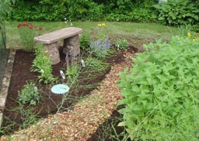 Flower Bed Mulching and Planning
