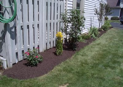 Home Landscaping After Mulching